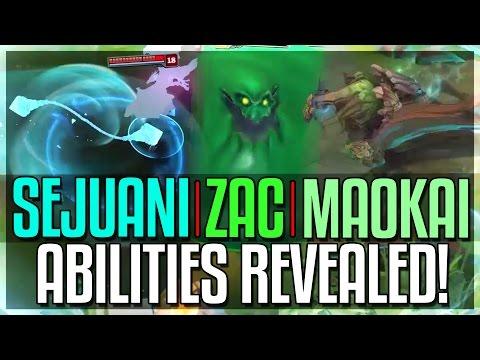 SEJUANI, ZAC & MAOKAI ABILITIES REVEALED!!! Rework | Midseason Update - League of Legends