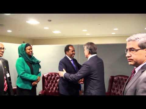 Somalia President meets Turkish President Abdullah Gül (UNGA Sept. 26,2013)