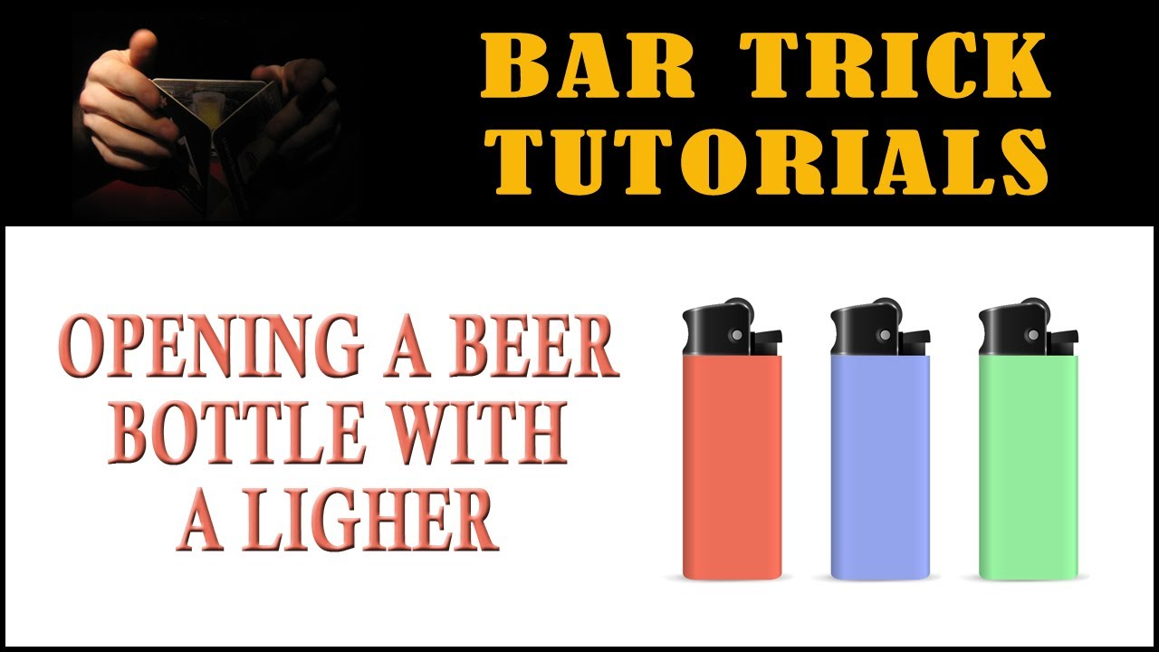 beer bottle opening tricks how to open a beer bottle with a lighter bar trick tutorial youtube. Black Bedroom Furniture Sets. Home Design Ideas