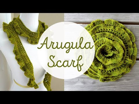 Youtube Crocheting A Scarf : Episode 26: How to Crochet the Arugula Scarf - YouTube