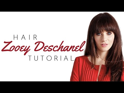 Zooey Deschanel Bangs Tutorial - TheSalonGuy