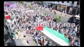 بالفيديو: شعارات و هتافات في مسيرة الدارالبيضاء تضامنا مع غزة | خارج البلاطو