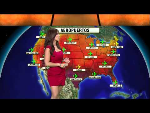 Jackie Guerrido 2011/08/11 Primer Impacto HD; Tight red dress