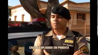 Bandidos explodem caixa eletr�nico em Pimenta