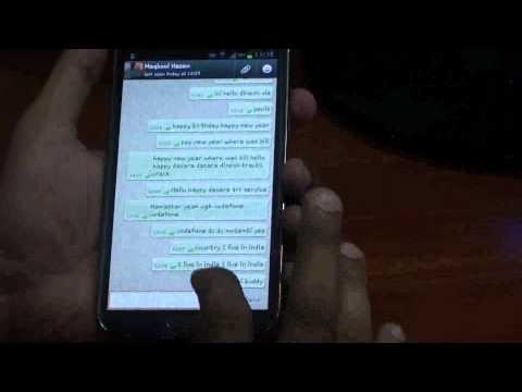 Using Voice on WhatsApp in Galaxy Note 2