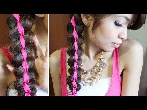 4 Strand Ribbon Braid Headband Hairstyle for Medium Long Hair Tutorial, ♥