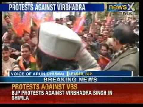 BJP protests against Chief Minister Virbhadra Singh in Himachal Pradesh - NewsX
