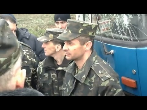 Pro-Russian Separatists Disarmed Ukrainian National Guard Soldiers In Artemovsk Donetsk Oblast