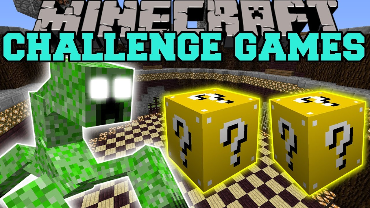 Creeper challenge games lucky block mod modded mini game youtube