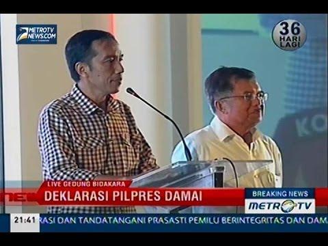 Deklarasi Pilpres Damai, Pidato Politik Joko Widodo