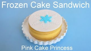 Frozen Cake Sandwiches - White Chocolate Cake Recipe how to by Pink Cake Princess