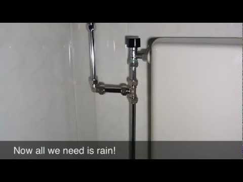Rainwater Toilet Made Easy. #DIY #waterconservation