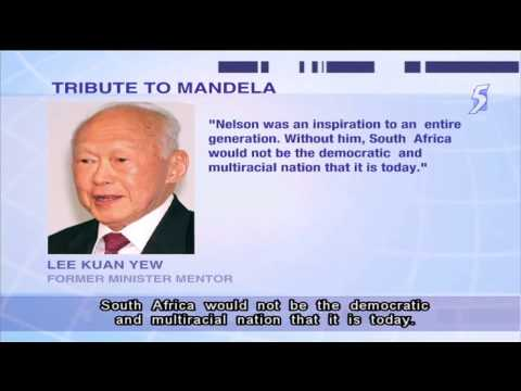 Singapore leaders send condolences on  Nelson Mandela's death 06Dec2013