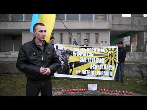 Игорь Коктыш на акции в день памяти Максима Чайки