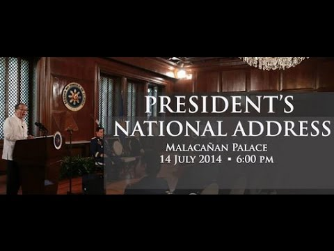 President Aquino's National Address - PTV Special Coverage [07/14/14]