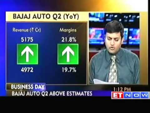 Bajaj Auto Q2 net up 13% at Rs 837.16 crore