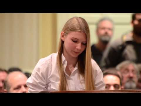 15 year old girl leaves anti-gun politicians...