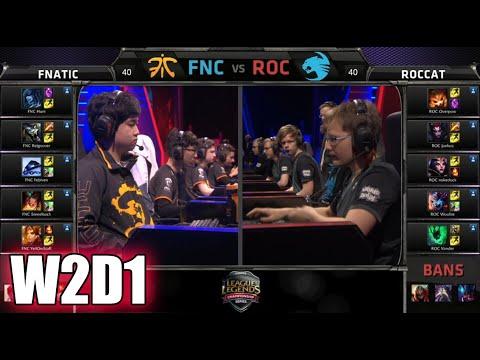 Fnatic vs ROCCAT   S5 EU LCS Spring 2015 Week 2 Day 1   FNC vs ROC W2D1G3 VOD 60FPS