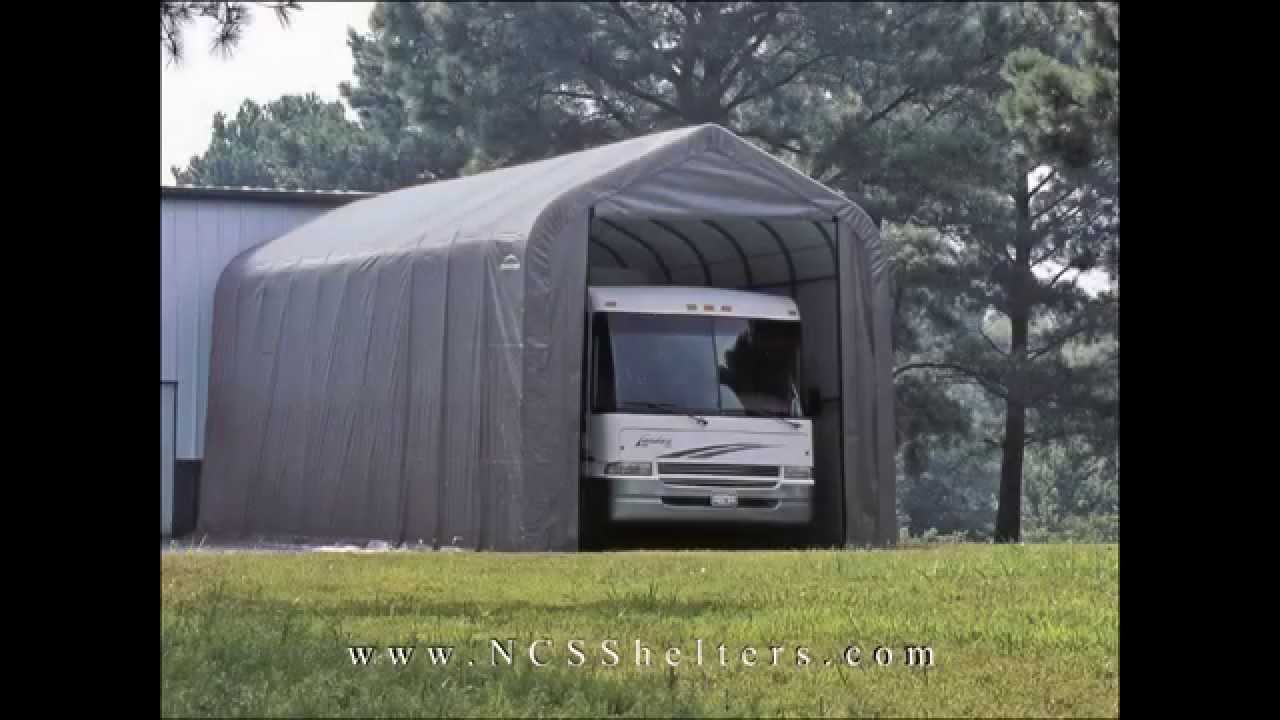 Rv storage portable garage kits ottawa garage kits for Motorhome garage kits