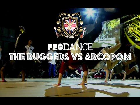 THE RUGGEDS vs ARCOPOM/ELECTRODUENDES | UK B-Boy Championships 2014 - BBoy Crew Final