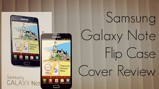 Samsung Galaxy Note Flip Case Cover Review Android GT