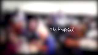 """Wedding Proposal Using """"Flash Mob Choir"""" Singing Rainbow"""