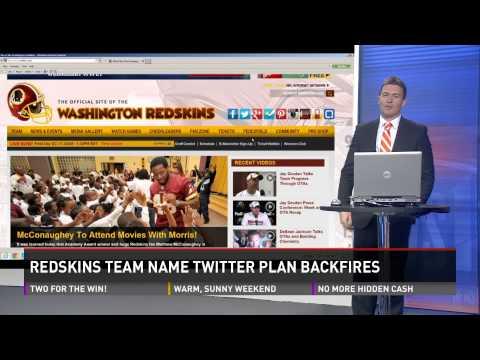 Washington Redskins social media campaign backfires