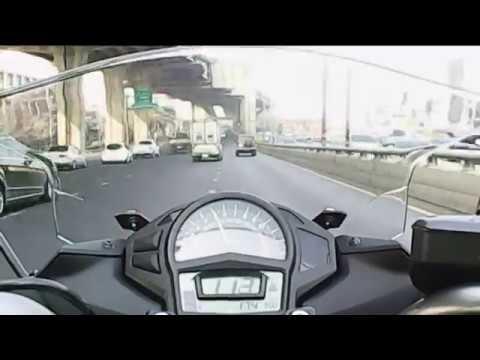 2012 Kawasaki Ninja 650 ---- 0-100 km/h and Top Speed Attempt
