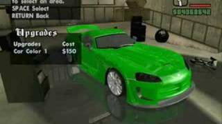 GTA San Andreas Street Racers Mod Car Tuning