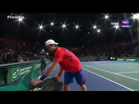 Verdasco-Gulbis Gulbis destroys his racquet BNP Paribas Masters Paris 2013