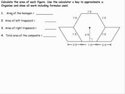 Area Of Composite Figures With Trapezoids Area of composite figure    Area Of Composite Figures With Trapezoids