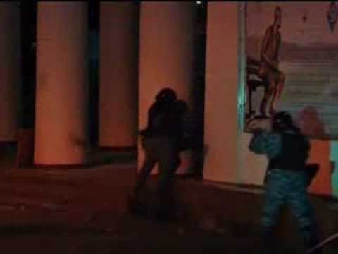 Exclusive from Ukraine Kiev clashes with police special forces in fire coctail Molotov