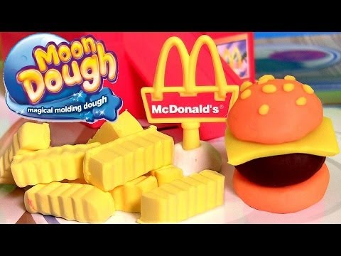 Moon Dough Burgers Fries Play Doh Hamburgers McDonalds Hamburguesa de Plastilina by Disneycollector