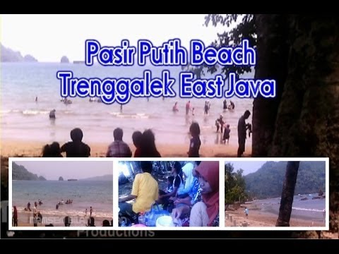"""Visit The White Sand Beaches Tourism"" - Trenggalek East Java - Indonesia"