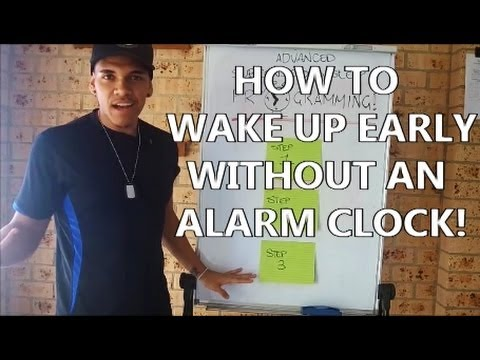 How To Wake Up Early Without An Alarm Clock ( Subsconscious Sleep Programming )