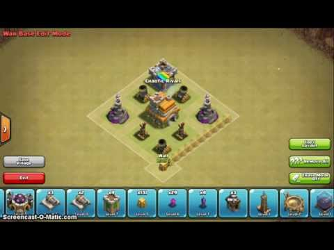 Clash of Clans TH7 War Base! | Without Barbarian King