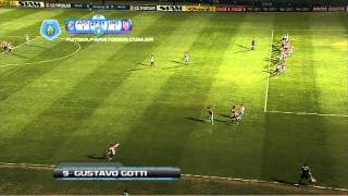 Gol de Gotti. Arsenal 1 - Instituto 1. 16 avos. de final. Copa Argentina.