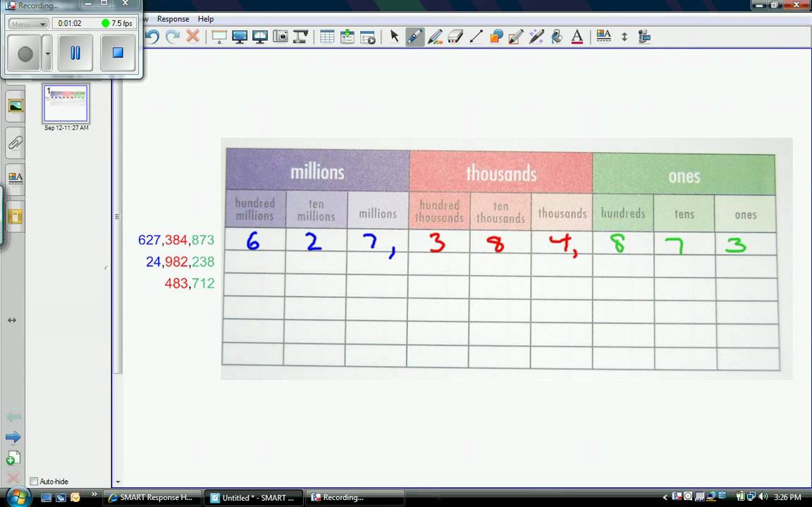 Place Value Chart - YouTube