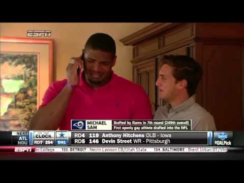 Michael Sam drafted by the St. Louis Rams in the 2014 NFL Draft