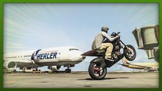 GTA 5 Stunts Airport Bike Stunts! (GTA V Stunts