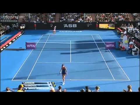 ▶ Larsson vs Ivanovic Auckland 2014 Highlights R2