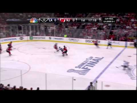 Justin Williams hits post in 1st LA Kings vs New Jersey Devils Stanley Cup Game 5 6/9/12 NHL Hockey.