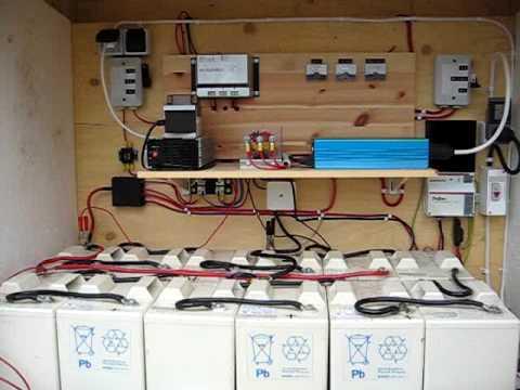 diy solar panel wiring diagram    solar    wind battery bank youtube     solar    wind battery bank youtube