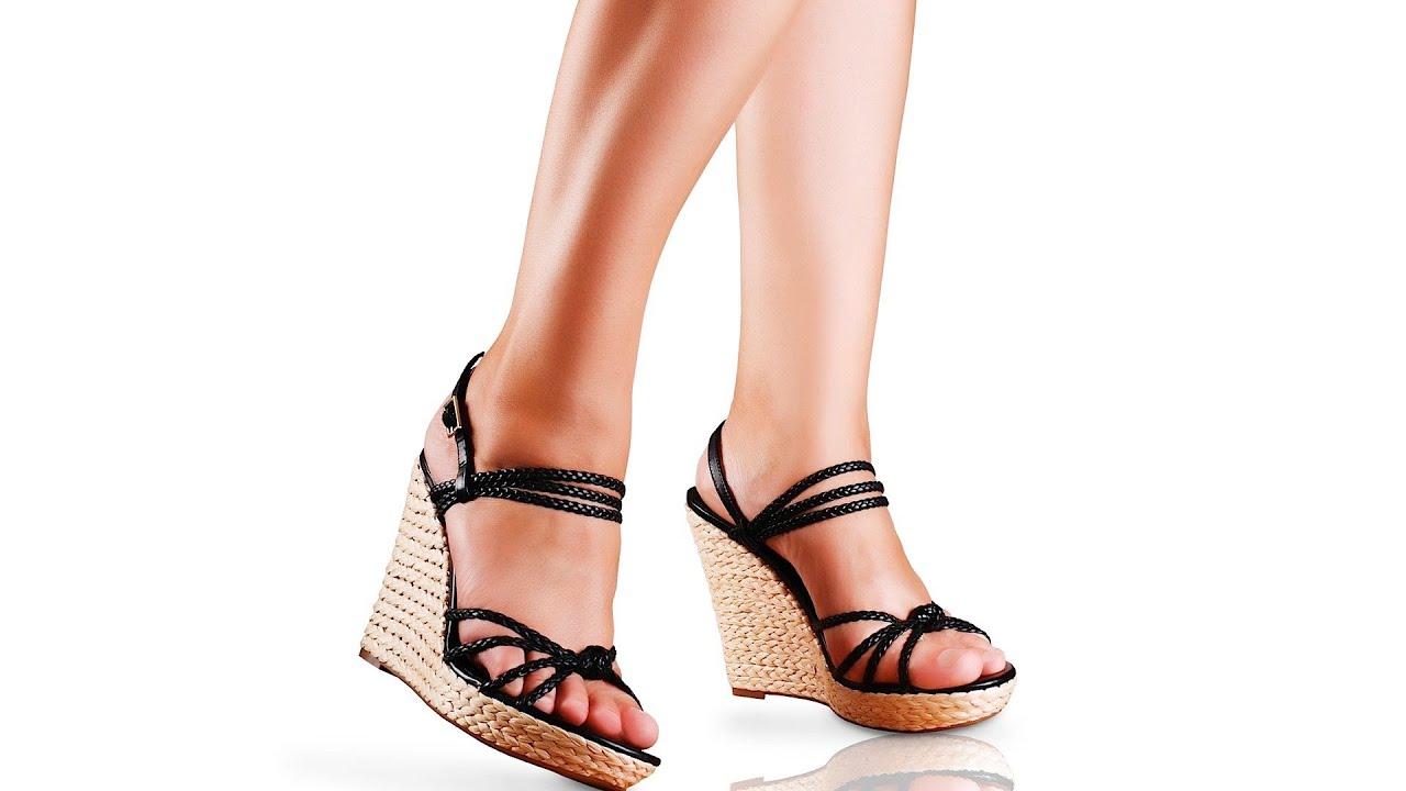 How to Walk in High-Heeled Wedges | High Heel Walking ...