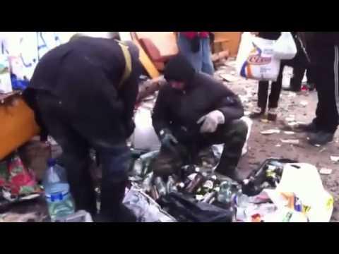 image vidéo حرق الشرطة بالملوتوف في مظاهرات أوكرانيا