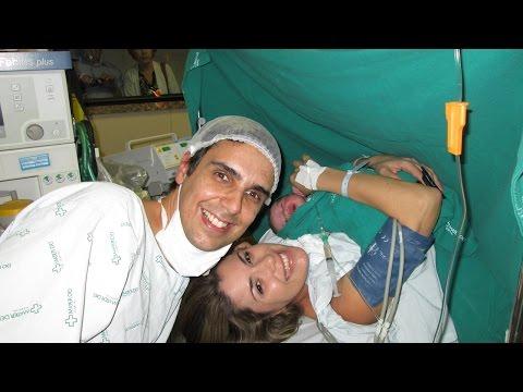 Parto cesárea emocionante - Nascimento do Gabriel 01/07/2014
