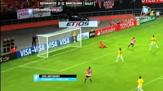 Estudiantes 3 - Barcelona (Ecu). Copa Libertadores 2015. .