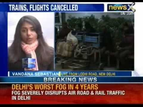 Dense fog cancels flights at IGI airport Delhi - NewsX