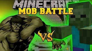 GIANT ZOMBIE VS HULK Minecraft Mod Battle Mob Battles
