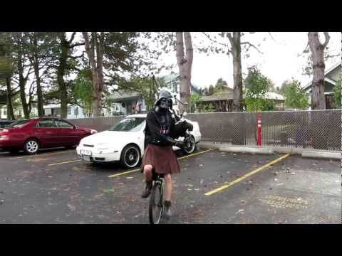 Darth Vader On Bagpipes And Unicycle. Just Because